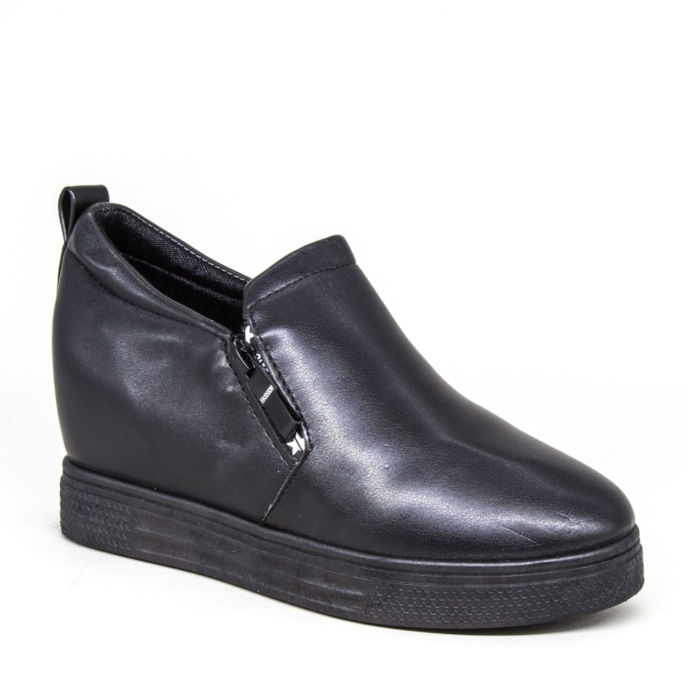 Pantofi Sport Dama cu Platforma 609 PSDP All Black (303) Sport Fashion