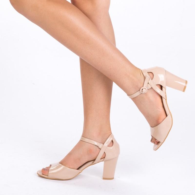 Sandale cu Toc QZL150B Nude Mei