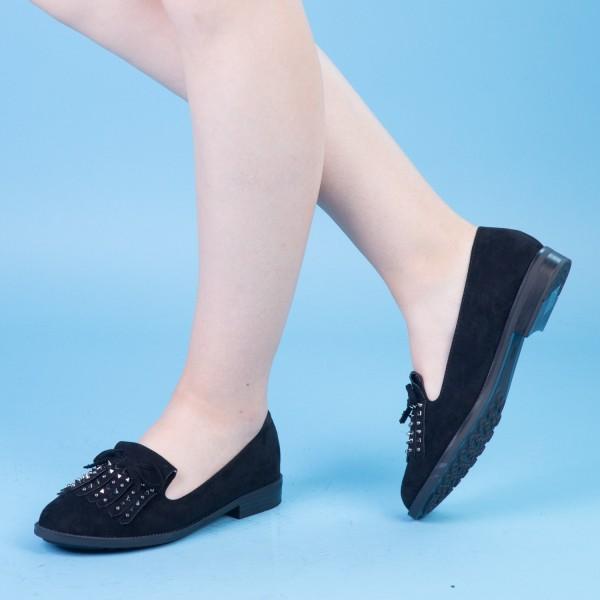 Pantofi Casual Dama XD102 Black Mei