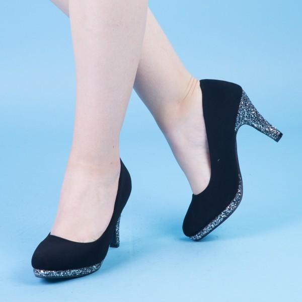 Pantofi cu Toc QZL131 Guncolor Mei
