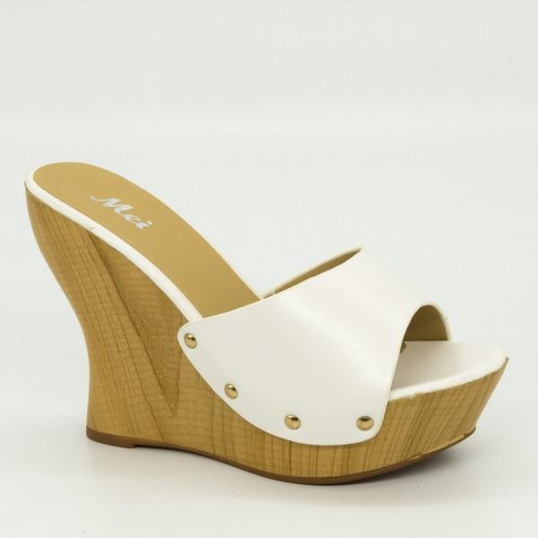 Papuci cu Platforma GH7 White Mei