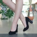 Pantofi cu Toc XKK130 Black Mei