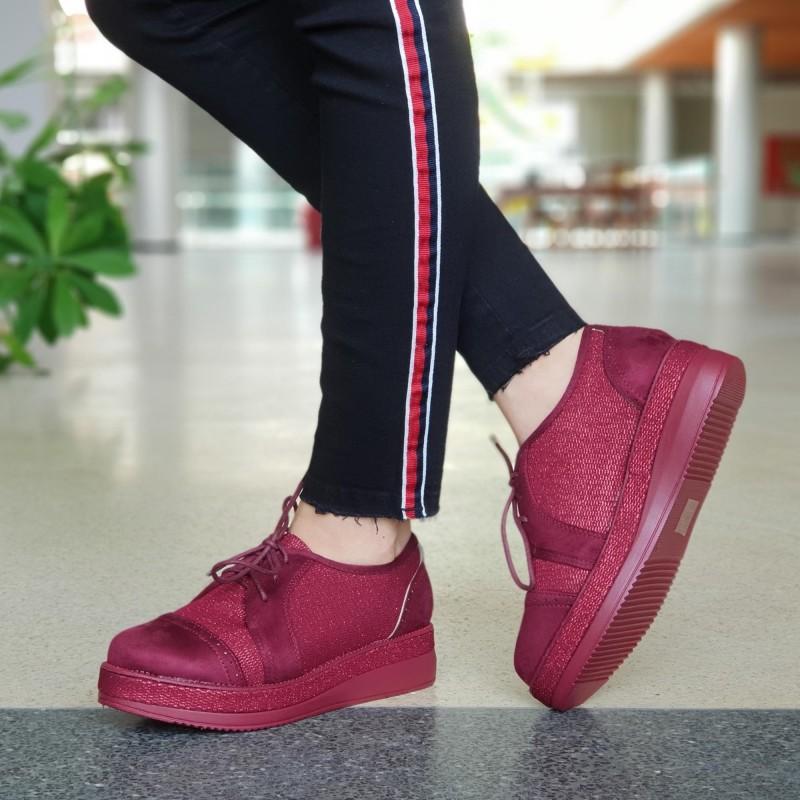 Pantofi Casual Dama YT11 Winered Mei
