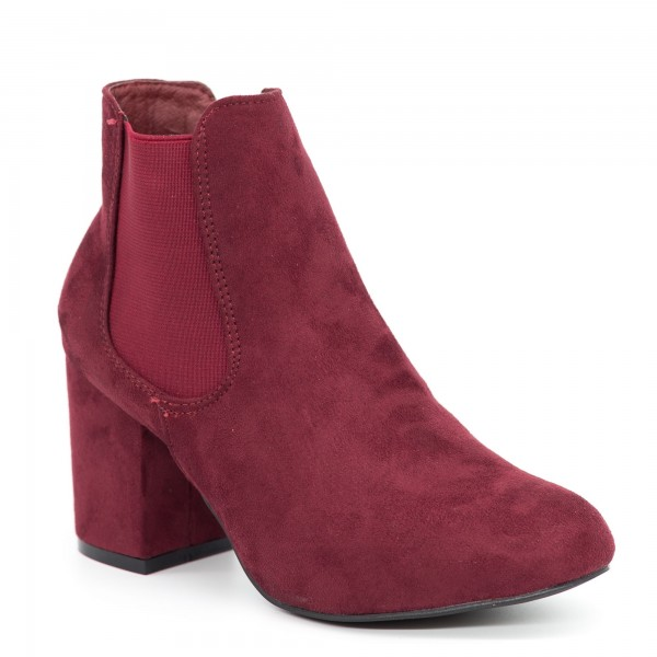 Botine cu Toc XD106 Winered Mei