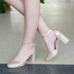 Pantofi cu Toc XD110A Gold Mei