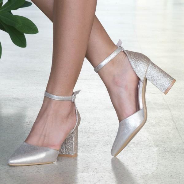 Pantofi cu Toc XD88C Gold Mei