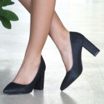 Pantofi cu Toc WT52C Black Mei