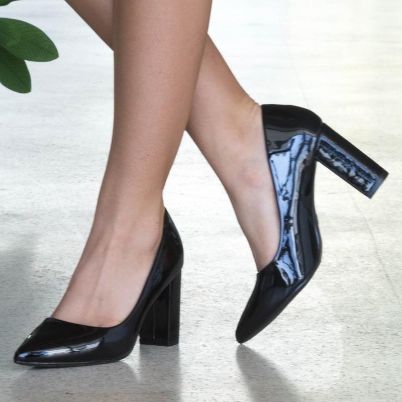 Pantofi cu Toc WT52A Black Mei