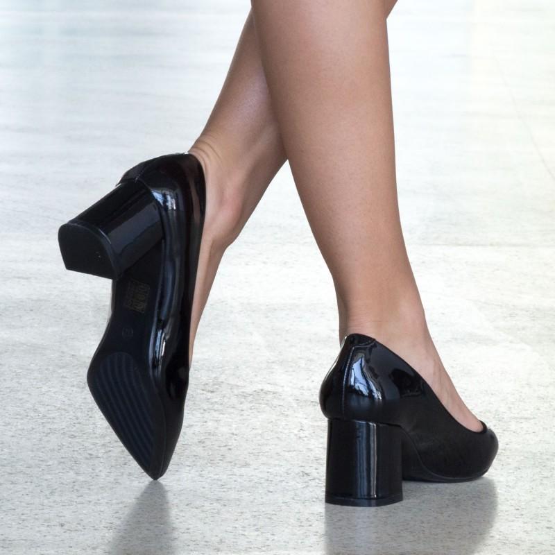 Pantofi cu Toc LLH18B Black Mei