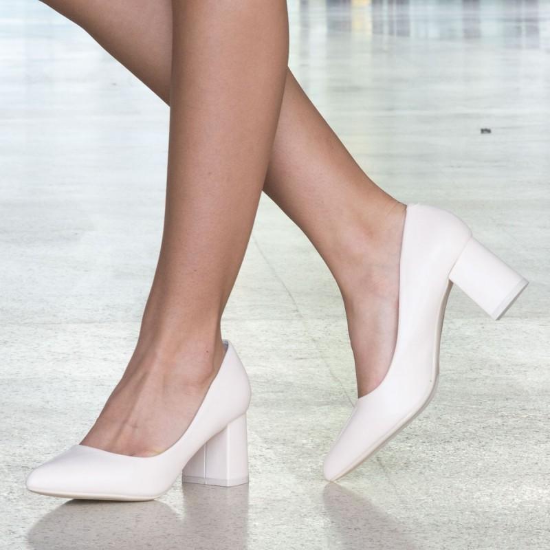 Pantofi cu Toc LLH18A Beige Mei