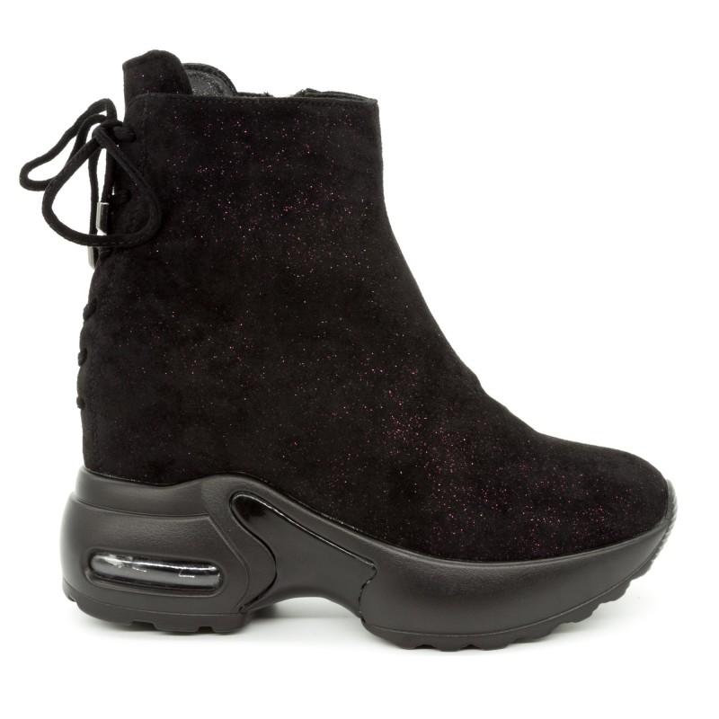 Pantofi Sport cu Platforma SJN220 Black-Purple Mei