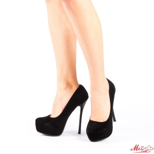Pantofi cu Toc si Platforma OLG1B Black Mei