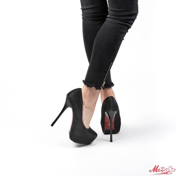 Pantofi cu Toc si Platforma OLG1C Black Mei