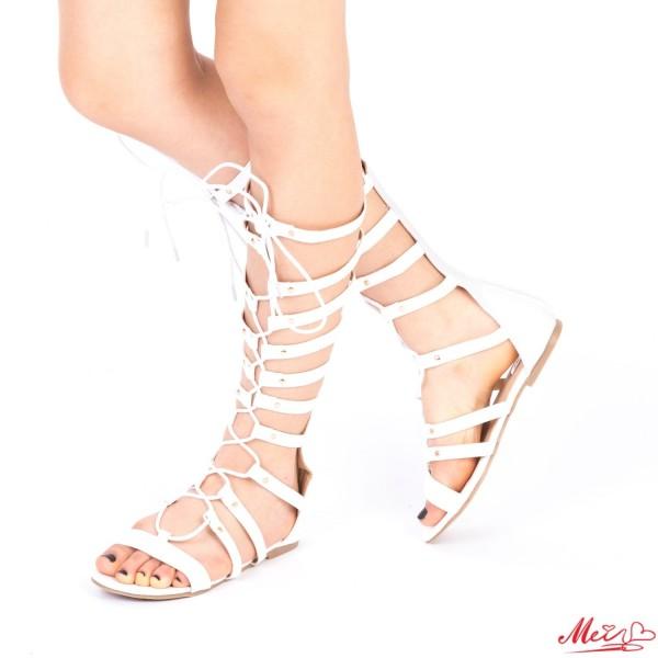 Sandale Dama QZL163 White Mei