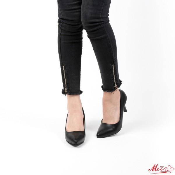 Pantofi cu Toc QZL67D Black Mei