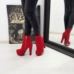 Botine Dama cu Toc RZ50 Red Mei