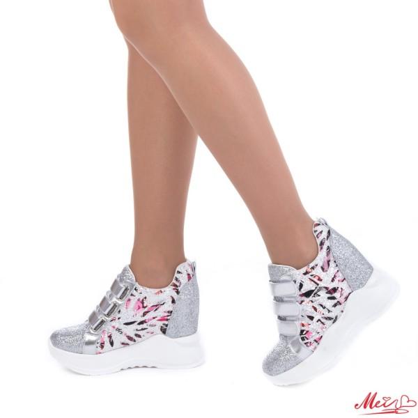 Pantofi Sport Dama cu Platforma SJN138 Silver Mei