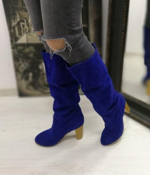 Cizme Dama cu Toc W03BLUE Blue Mei