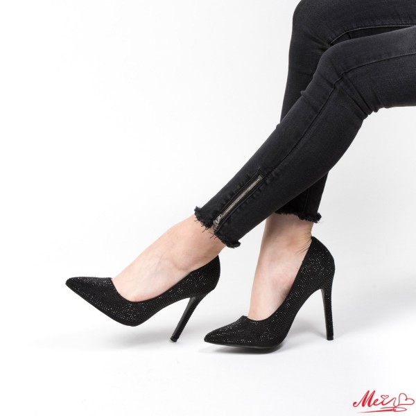 Pantofi cu Toc WT132 Black Mei
