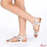 Sandale Dama cu Toc WT16 Silver Mei
