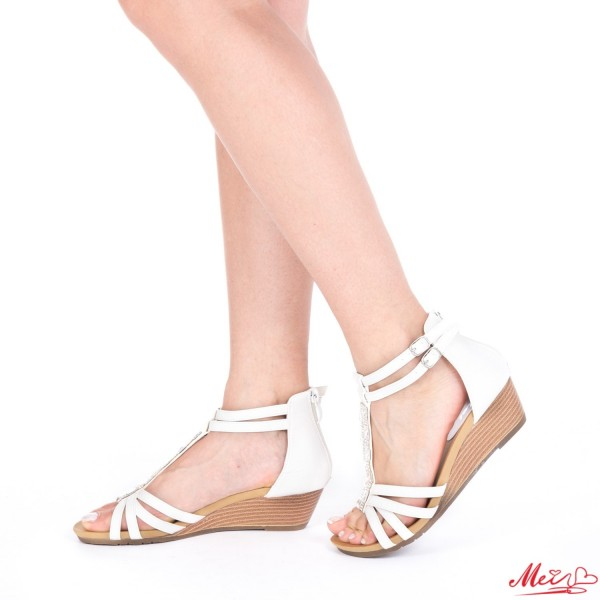 Sandale Dama cu Toc WT61 White Mei