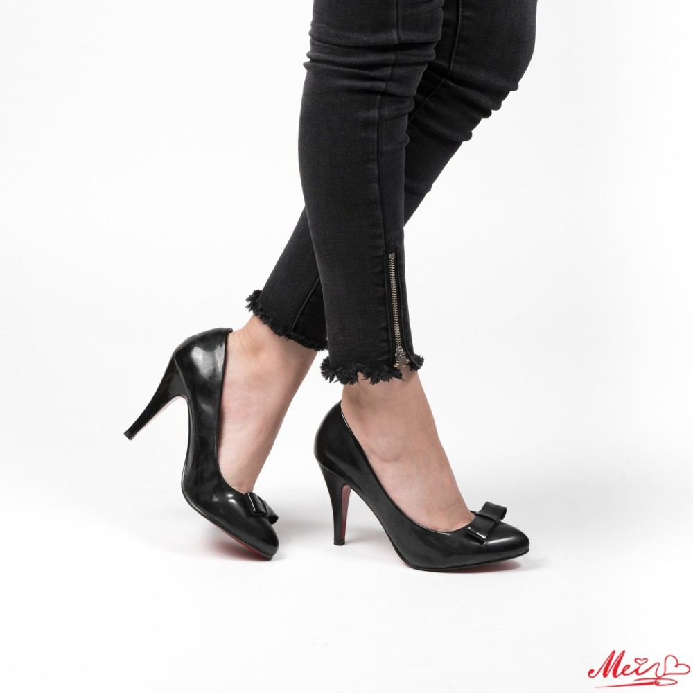 Pantofi cu Toc WT67 Black Mei