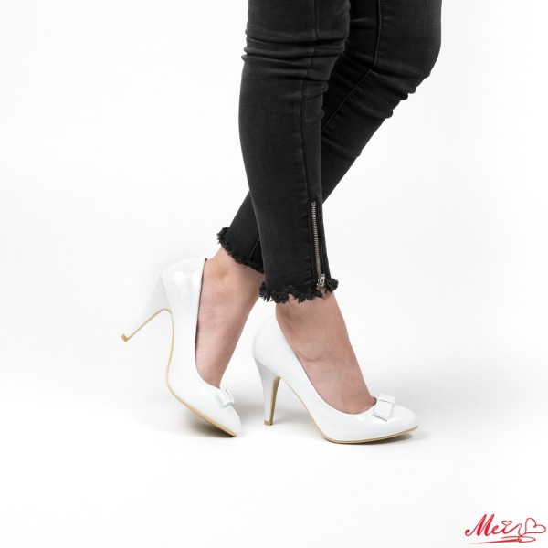 Pantofi cu Toc WT67 White Mei