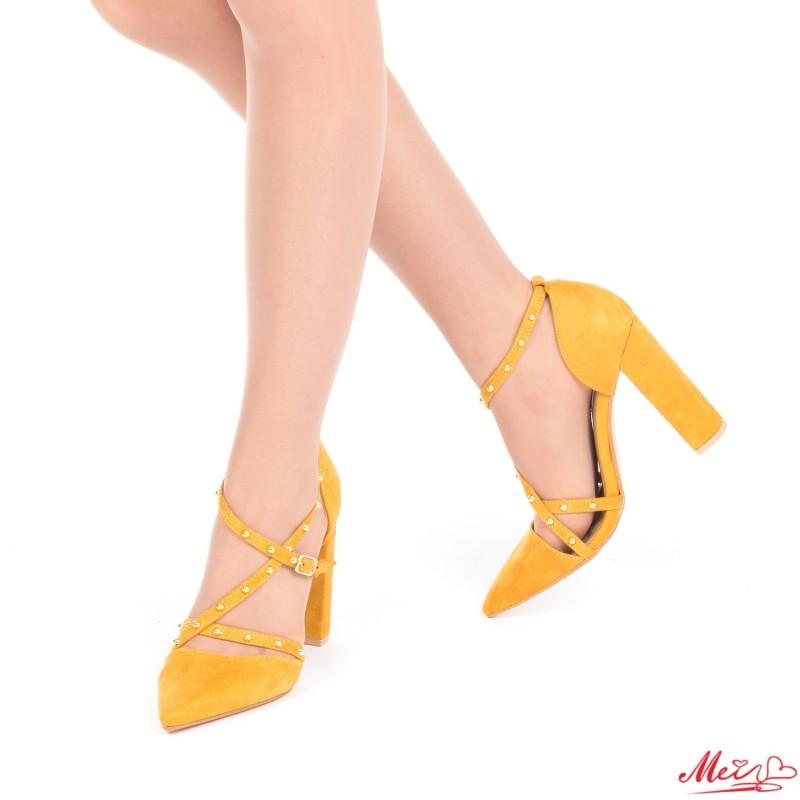 Pantofi cu Toc XD63 Yellow Mei