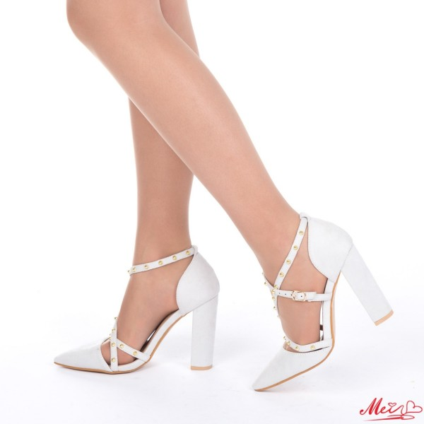 Pantofi cu Toc XD63 Grey Mei