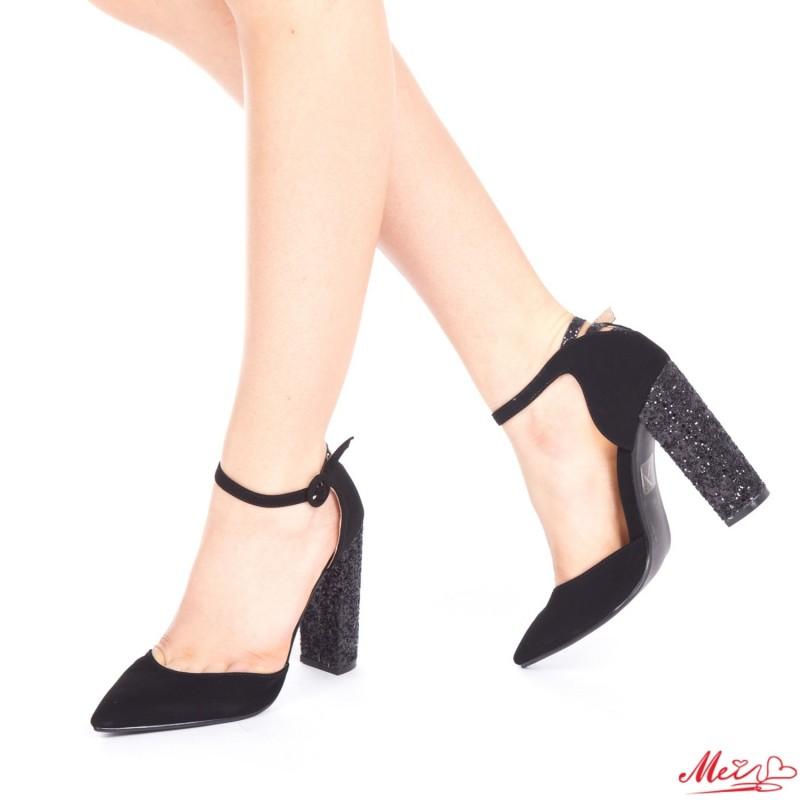 Pantofi cu Toc XD85 Black Mei