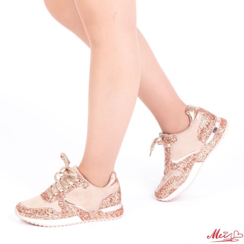 Pantofi Sport Dama 1727905B# Rose Gold Mei