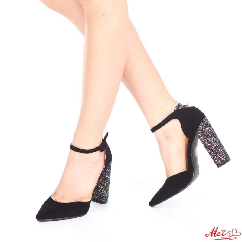 Pantofi cu Toc XD85 Purple Mei