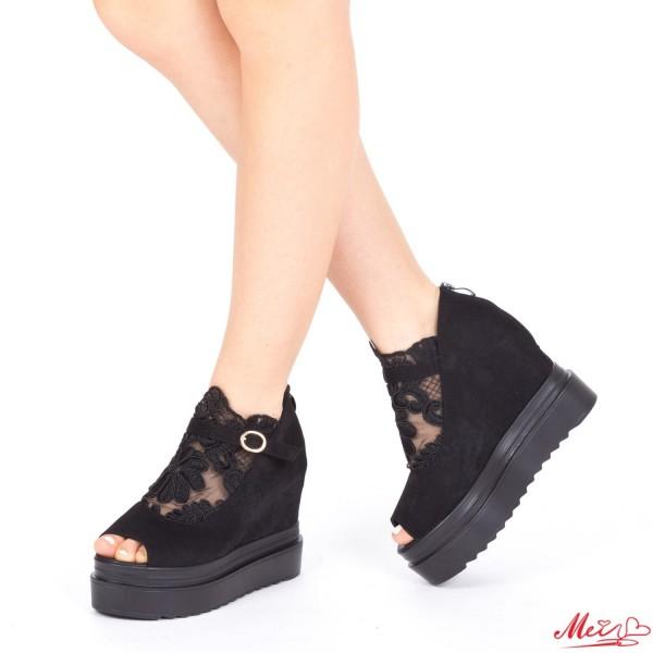 Sandale Dama cu Platforma XJ35 Black Mei