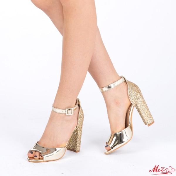 Sandale Dama cu Toc XKK110 Gold Mei
