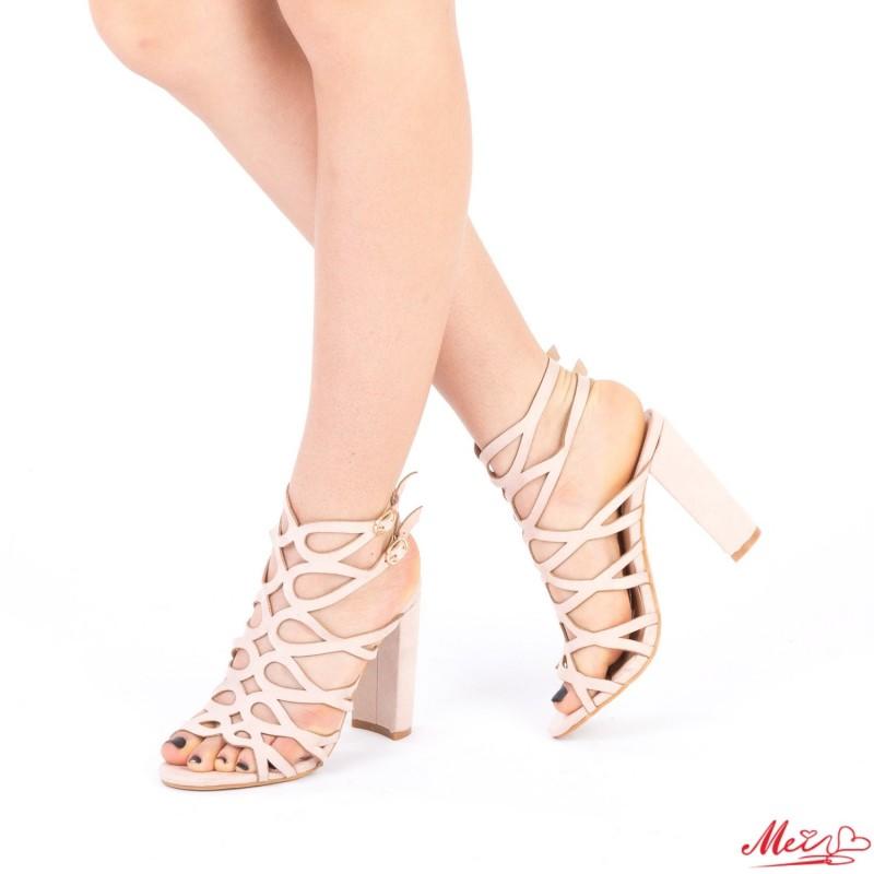 Sandale Dama cu Toc XKK113 Pink Mei