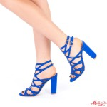 Sandale Dama cu Toc XKK113 Blue Mei