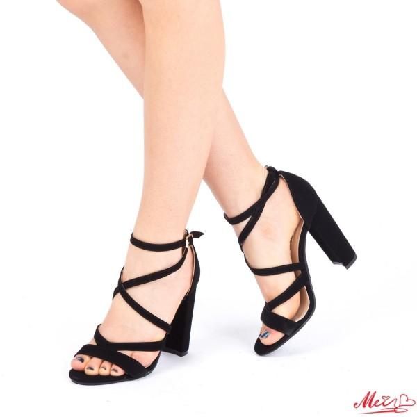 Sandale Dama cu Toc XKK89 Black Mei