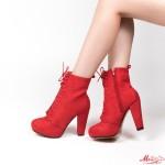 Botine Dama cu Toc 3388-1 Red Mei