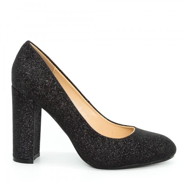 Pantofi cu Toc XKK130B Black Mei