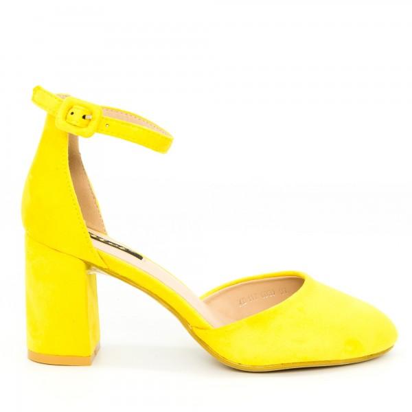 Pantofi cu Toc XD117 Yellow Mei