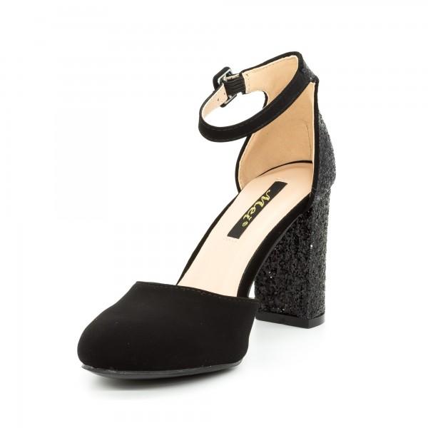 Pantofi cu Toc XD116A Black Mei