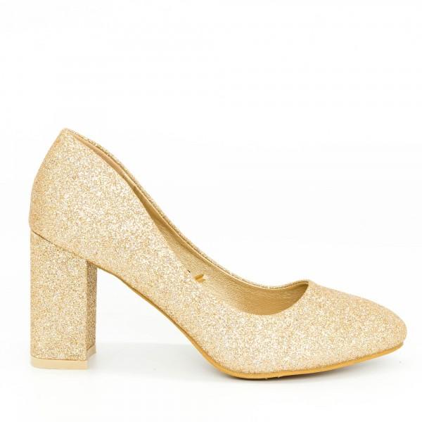 Pantofi cu Toc GE27B Gold Mei
