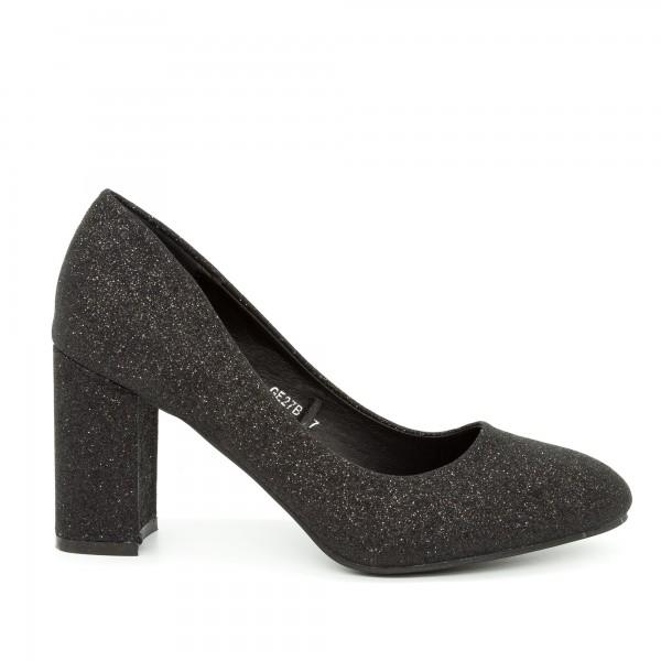 Pantofi cu Toc GE27B Black Mei