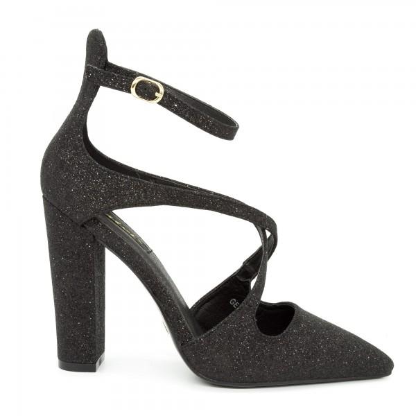 Pantofi cu Toc GE18A Black Mei