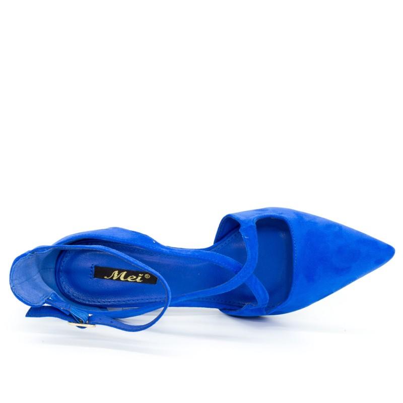 Pantofi cu Toc GE18 Blue Mei