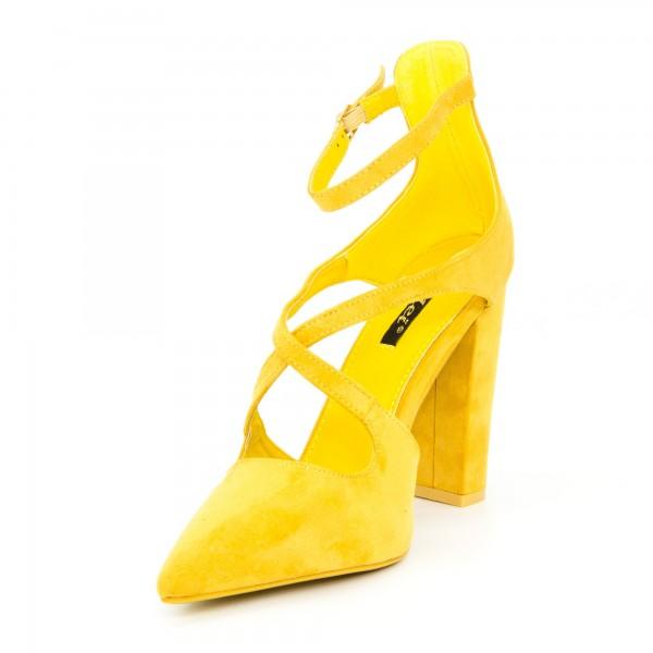 Pantofi cu Toc GE18 Yellow Mei