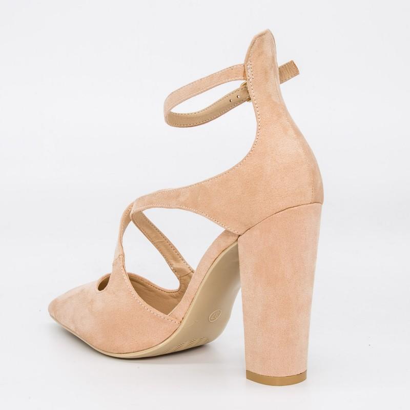 Pantofi cu Toc GE18 Pink Mei