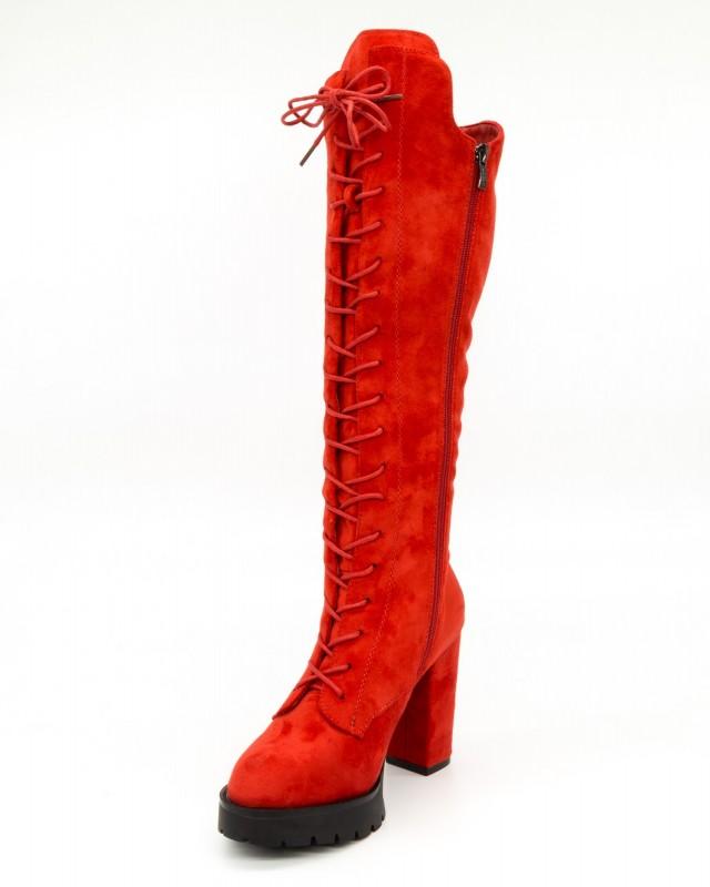 Cizme cu Toc Dama MX70 Red Mei