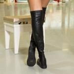 Cizme cu Platforma Dama MX61A Black Mei