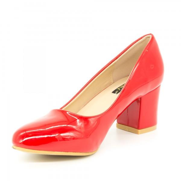 Pantofi cu Toc QZL198C Red Mei